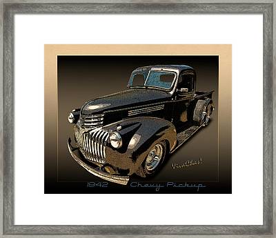 42 Chevy Pickup Rat Rod Framed Print