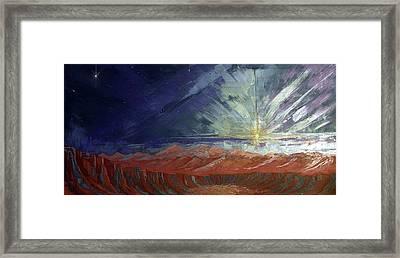 Cosmic Light Series Framed Print by Len Sodenkamp