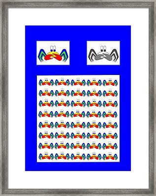 42 Crab Mac Claws Framed Print by Asbjorn Lonvig