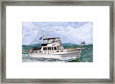 42 Foot Grand Banks Motoryacht Framed Print