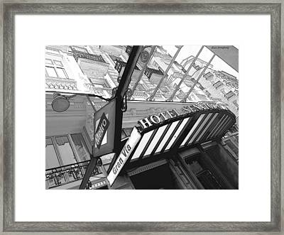 42 Gran Via Metro Madrid Framed Print by Alan Armstrong