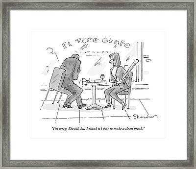 I'm Sorry, David, But I Think It's Best To Make Framed Print by Danny Shanahan