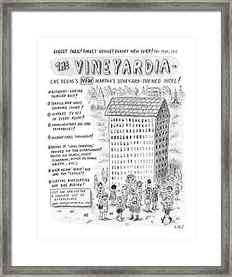 The Vineyardia Framed Print