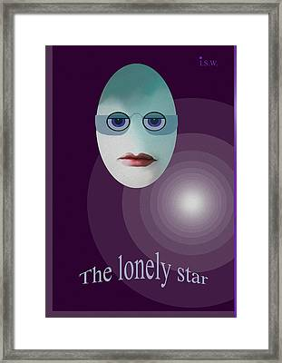 422 - The Lonely Star Framed Print by Irmgard Schoendorf Welch