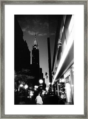 Framed Print featuring the photograph 42nd-street-dawn by Dave Beckerman