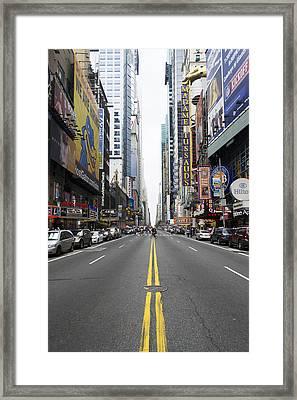 42nd Street - New York Framed Print