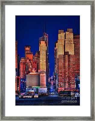 42nd Street Framed Print by Susan Candelario