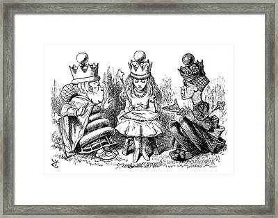 Carroll Looking Glass Framed Print by Granger