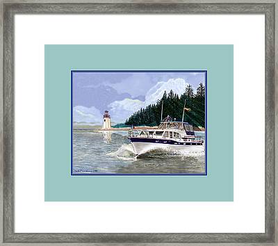 43 Foot Tollycraft Southbound In Clovos Passage Framed Print by Jack Pumphrey