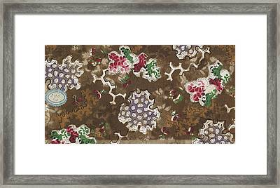 French Fabrics First Half Of The Nineteenth Century 1800 Framed Print by Litz Collection