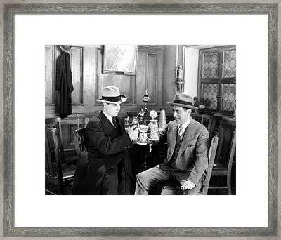 Silent Film Still: Drinking Framed Print