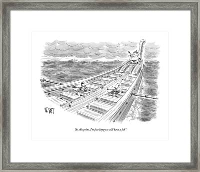 At This Point Framed Print