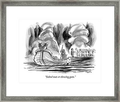 Salted Nuts Or Chewing Gum? Framed Print