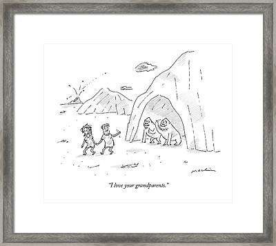 I Love Your Grandparents Framed Print by Michael Maslin
