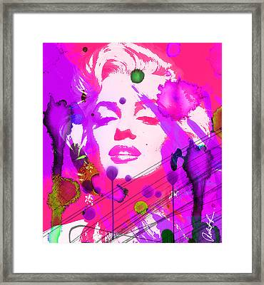43x48 Marilyn Pretty In Pink - Huge Signed Art Abstract Paintings Modern Www.splashyartist.com Framed Print