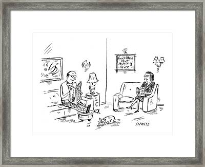 New Yorker January 23rd, 2006 Framed Print by David Sipress