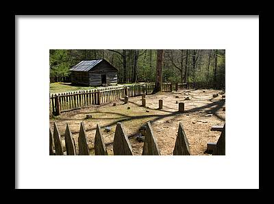 Abandoned Cabins Smoky Mountains Framed Prints