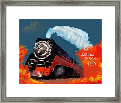 4449 Through The Fire Graphic Framed Print