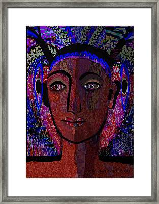 447 - Dark Lady Framed Print by Irmgard Schoendorf Welch