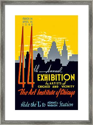 44th Annual Exhibition By Artists Of Chicago And Vicinity Framed Print by Mark E Tisdale