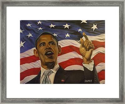 44th President Of Change  Framed Print by Jamie Preston