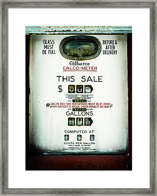 45 Cents Per Gallon Framed Print