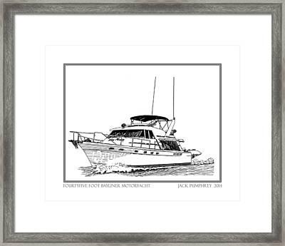 45 Foot Bayliner Motoryacht Framed Print by Jack Pumphrey