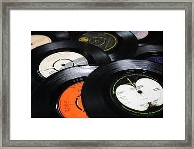 45 Inch 1960's Vinyls Framed Print by Jacqueline Moore