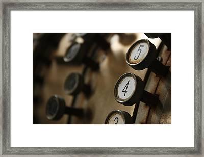 45 Framed Print