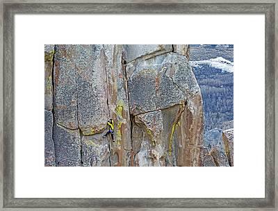 Rock Climber Framed Print by Elijah Weber