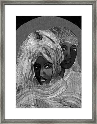 454 - Dreaming Of Abu Dhabi   Framed Print by Irmgard Schoendorf Welch