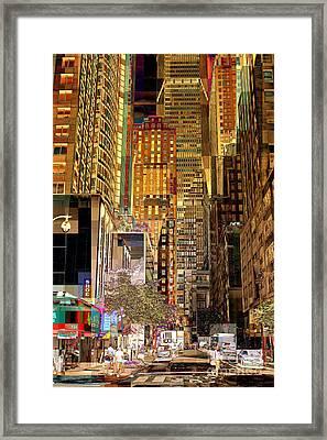 45th Street Redux Framed Print by Miriam Danar