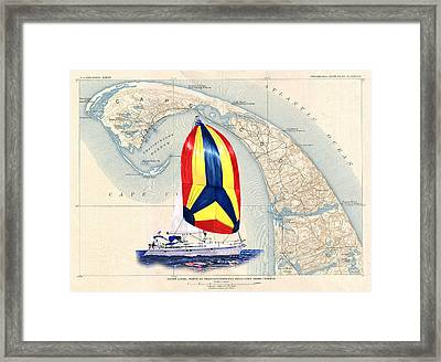 39 Beneteau Cape Cod Chart Art Framed Print