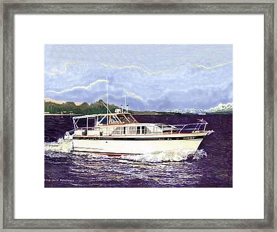 46 Foot 1965 Classic Chris Craft Terific Framed Print