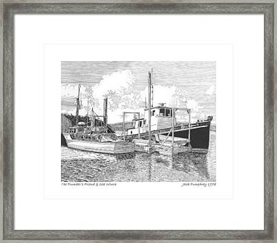 46 Foot Stephans Yacht And Tugboat Framed Print