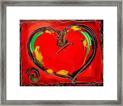 Heart Framed Print by Mark Kazav