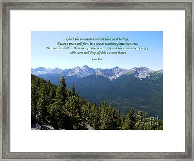 46- John Muir Framed Print