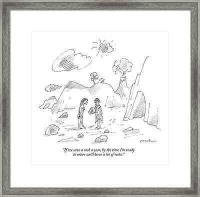 If We Save A Rock A Year Framed Print by Michael Maslin