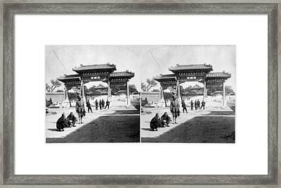 Framed Print featuring the painting China Boxer Rebellion by Granger
