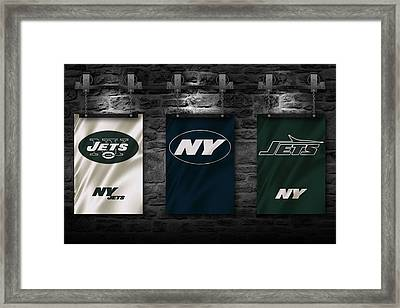 New York Jets Framed Print by Joe Hamilton
