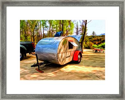 Framed Print featuring the painting 47 Teardrop by Michael Pickett