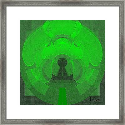 471 - The Keyhole Framed Print by Irmgard Schoendorf Welch