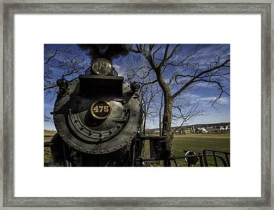 #475 Steam Engine On The Strasburg Rr 04 Framed Print by Mark Serfass