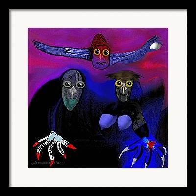 Strange Owl Framed Prints