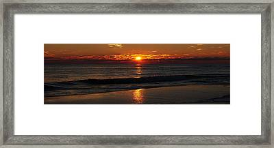 48 Degrees At The Beach Framed Print