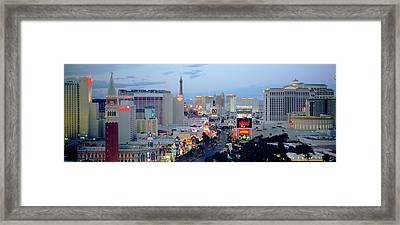 High Angle View Of Buildings In A City Framed Print