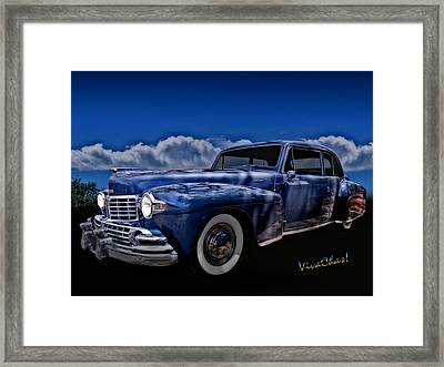 48 Lincoln Continental By Moonlight Framed Print