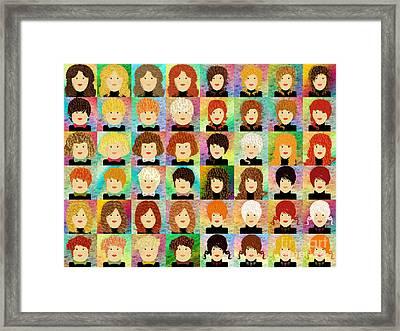 48 Porcelain Dolls Framed Print by Andee Design