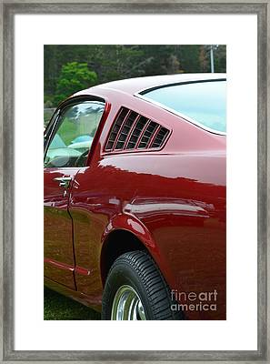 Classic Mustang Framed Print by Dean Ferreira