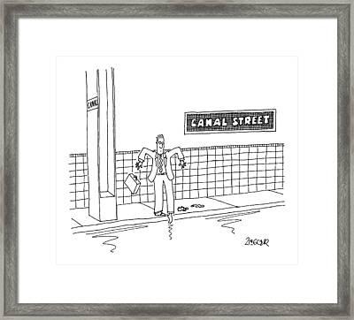 New Yorker January 16th, 2006 Framed Print